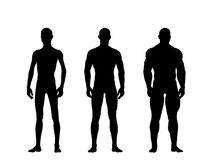 Silhouetted muscular man Royalty Free Stock Photography