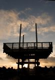 Silhouetted observation deck Stock Images