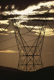 Silhouetted pylon Stock Image