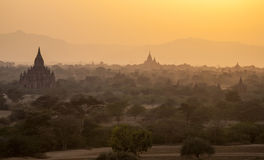 Bagan Temples at Sunset Stock Photo