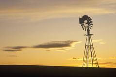 Silhouetted windmill, SD