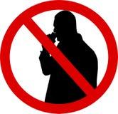 Silhouetteer Geen alcohol stock illustratie