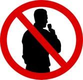 Silhouetteer Geen alcohol vector illustratie