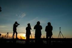 Silhouettefotografer Arkivfoto