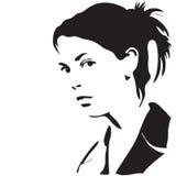 silhouettekvinna Arkivfoton