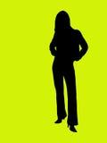 silhouettekvinnabarn Royaltyfria Bilder