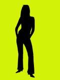 silhouettekvinnabarn arkivfoton