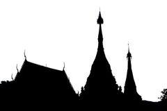 Silhouettempel Royalty-vrije Stock Foto