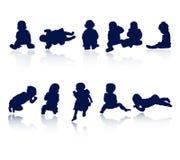 Silhouetten - baby Stock Fotografie