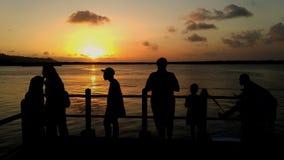 silhouetten bij sleko stock fotografie