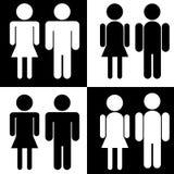 Silhouetten (de man en de vrouw) Royalty-vrije Stock Afbeeldingen