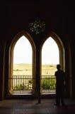 Silhouetten in Spaanse zar van Alcà ¡ Stock Fotografie
