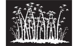 Silhouetten van bamboebos Royalty-vrije Stock Afbeelding