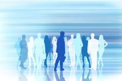 Silhouetten van businesspeople Stock Foto