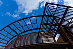 Silhouetten van de architectuur Stock Afbeeldingen
