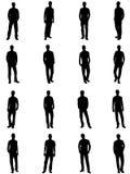 Silhouetten van de mens Royalty-vrije Stock Foto's