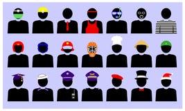 Silhouetten van diverse beroepen vector illustratie