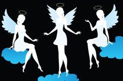 Silhouetten van engelen royalty-vrije illustratie