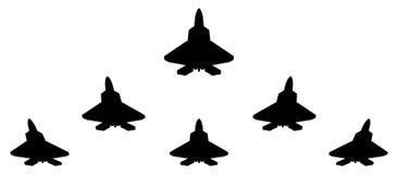 Silhouetten van groepsf 22 vechter vector illustratie