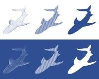 Silhouetten van haaien royalty-vrije illustratie