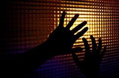 Silhouetten van handen Royalty-vrije Stock Afbeeldingen