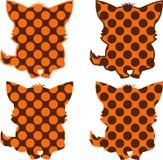 Silhouetten van katjes met patronen Stock Afbeelding