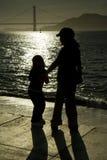 Silhouetten van kinderen Royalty-vrije Stock Afbeelding