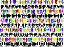 Silhouetten van mensen Royalty-vrije Stock Foto
