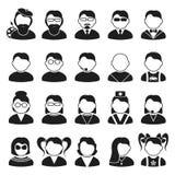 Silhouetten van mensen Stock Fotografie