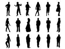 Silhouetten van mensen Stock Foto's