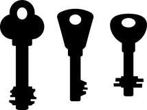 Silhouetten van sleutels vector illustratie