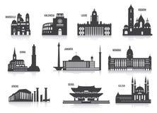 Silhouetten van steden Royalty-vrije Stock Afbeelding