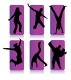 Silhouetten van verschillende mensen Royalty-vrije Stock Foto's