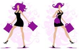 Silhouetten van vrouw 3 Royalty-vrije Stock Afbeelding