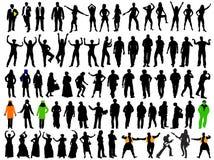 Silhouetten voor verschillende situatie Royalty-vrije Stock Fotografie