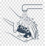 Silhouetteof renlighet, hygien stock illustrationer