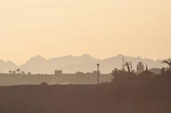 Silhouettes égyptiennes Images libres de droits