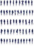 silhouettes женщины Стоковые Фотографии RF
