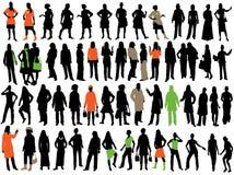 silhouettes женщины Стоковое Изображение
