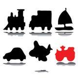silhouettes корабли Стоковое Фото