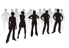 silhouettes молодость Стоковые Фото