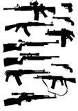 silhouettes оружие Стоковые Фотографии RF