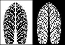 Silhouettes симметричные деревья бесплатная иллюстрация