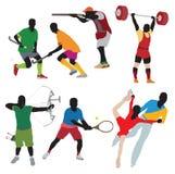 Silhouettes спортсмен стоковая фотография rf