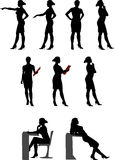 Silhouettes 1 (Office lady) Royalty Free Stock Image
