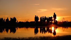 silhouettes image stock