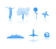 Silhouettes. 6 silhouettes isolated on white vector illustration