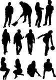 silhouettes Stock Illustrationer