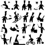 Silhouettes Stock Image