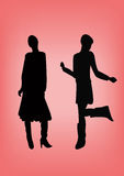 Silhouettes. A illustration of women's silhouettes vector illustration